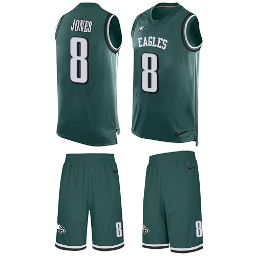Nike Eagles #8 Donnie Jones Midnight Green Team Color Men's Stitched NFL Limited Tank Top Suit Jersey